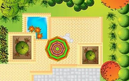 Een goed tuinontwerp bevat veelal een combinatie van beplanting en bestrating, vastgelegd in een zogenaamd verhardings- of bestratingsplan.