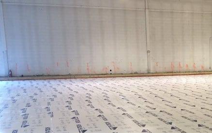 Vloerisolatie wordt tegenwoordig standaard aangebracht voordat een vloer wordt gestort.